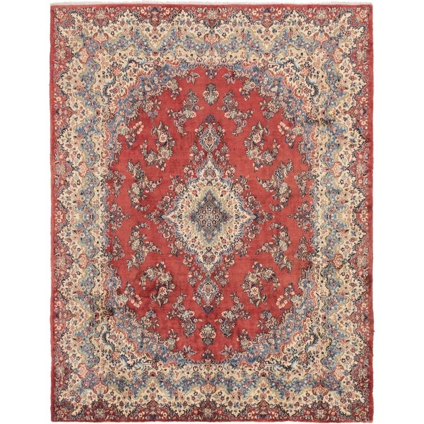 Hand Knotted Shahrbaft Wool Area Rug - 9' x 11' 10