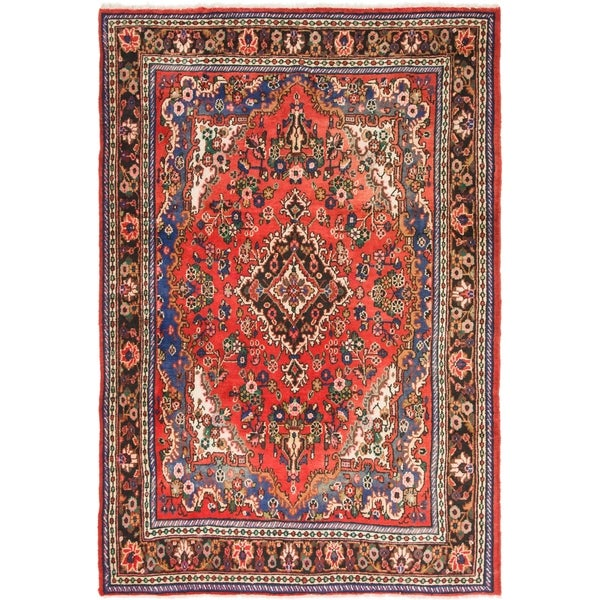 Hand Knotted Shahrbaft Semi Antique Wool Area Rug - 6' 7 x 9' 9