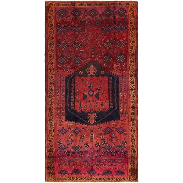 Hand Knotted Shiraz Semi Antique Wool Runner Rug - 5' x 9' 7