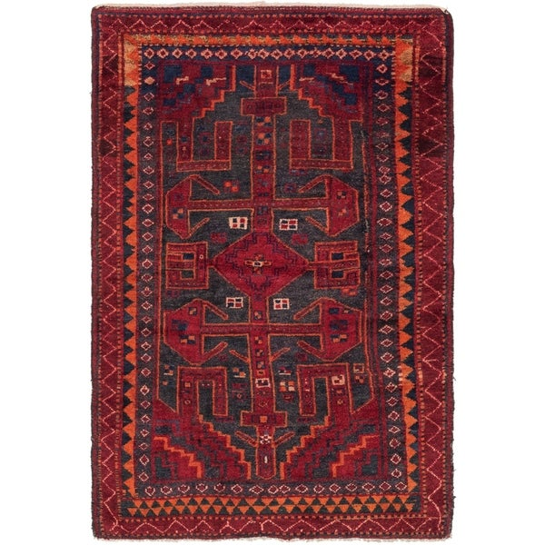 Hand Knotted Shiraz Semi Antique Wool Area Rug - 4' 5 x 6' 9