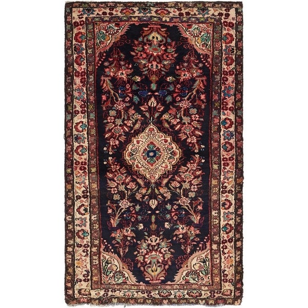 Hand Knotted Shahrbaft Wool Area Rug - 3' 5 x 6'
