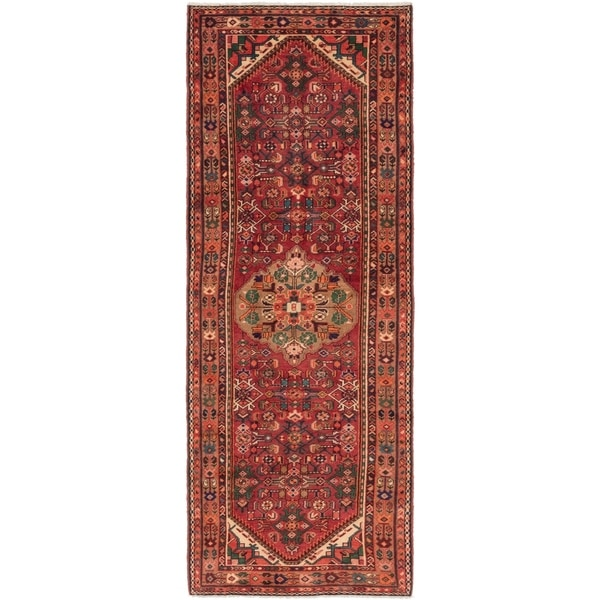 Hand Knotted Shahsavand Wool Runner Rug - 3' 7 x 10'