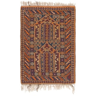 Hand Knotted Shiraz Wool Area Rug - 2' 7 x 4'
