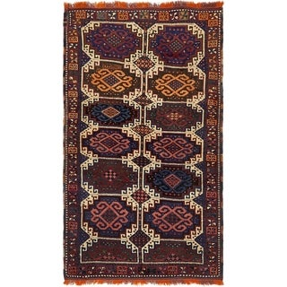 Hand Knotted Shiraz Semi Antique Wool Area Rug - 3' 10 x 6' 7