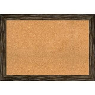 Framed Cork Board, Fencepost Brown Narrow