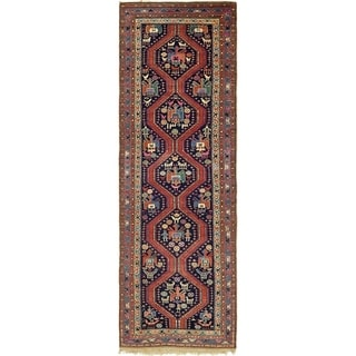 Hand Knotted Shiraz Wool Runner Rug - 4' x 12' 5