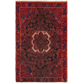 Hand Knotted Shiraz Semi Antique Wool Area Rug - 4' x 6' 7
