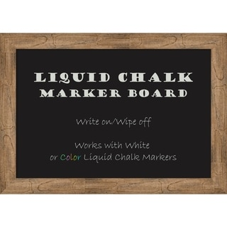 Framed Liquid Chalk Marker Board, Owl Brown