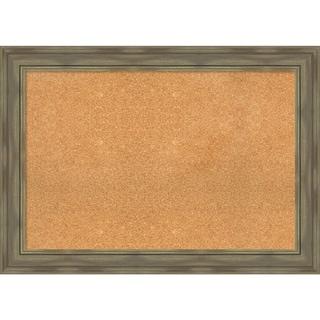 Framed Cork Board, Alexandria Greywash