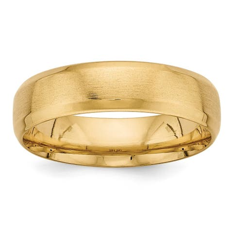 14 Karat Yellow Gold Heavy Comfort Fit Fancy Band by Versil