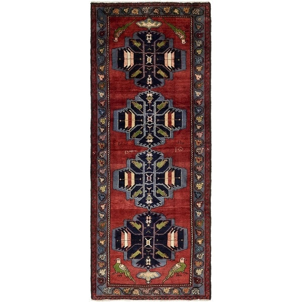Hand Knotted Shahsavand Wool Runner Rug - 4' 2 x 10' 4