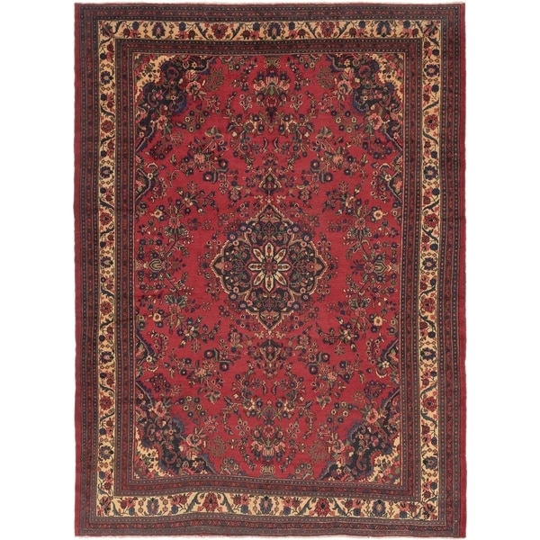 Hand Knotted Shahrbaft Semi Antique Wool Area Rug - 10' 4 x 14'