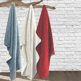 Portia Ribbed Plush Micro Mink Blanket