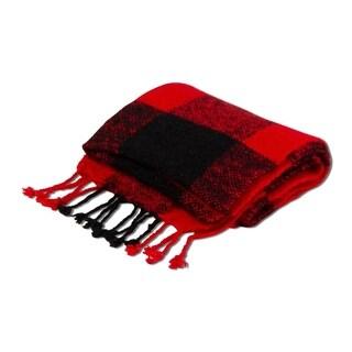 TAG Buffalo Check Shawl Red - Large