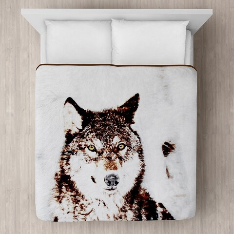 Timber Wolf Micro Mink Blanket