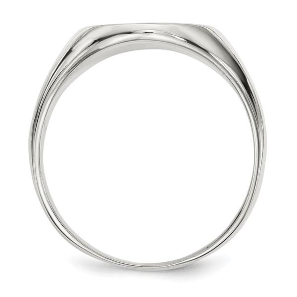 .925 Sterling Silver 17x13MM Signet Ring