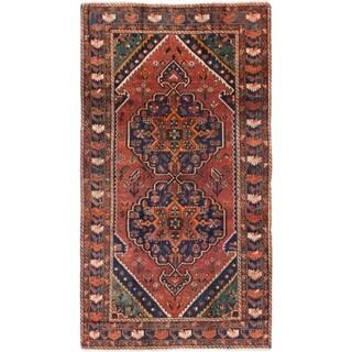 Hand Knotted Shiraz Semi Antique Wool Runner Rug - 5' 3 x 9' 8