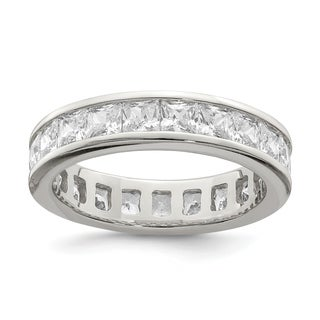Versil Sterling Silver CZ Eternity Band