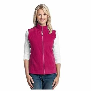 Port Authority Women's Microfleece Vest, Small, Dark Fuchsia