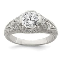 Versil Sterling Silver CZ Antique Look Ring