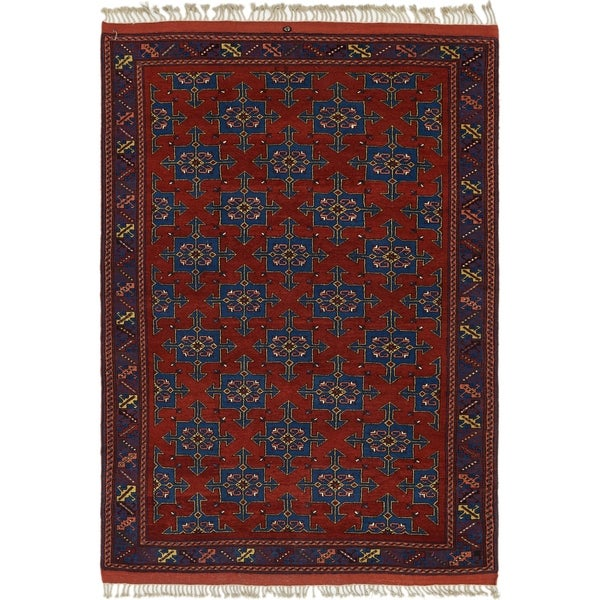 Hand Knotted Shiraz Wool Area Rug - 6' 10 x 10' 5