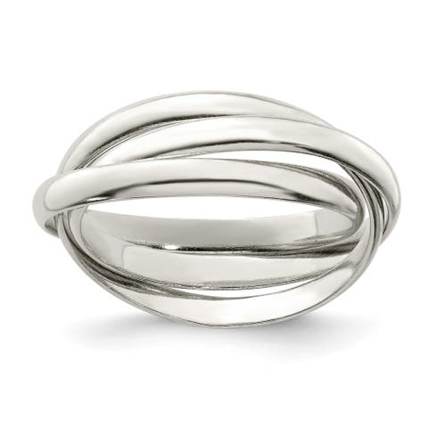 Versil Sterling Silver Triple Intertwining Ring