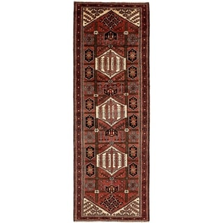 Hand Knotted Shahsavand Semi Antique Wool Runner Rug - 3' 5 x 10' 5