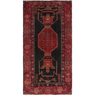 Hand Knotted Shiraz Semi Antique Wool Runner Rug - 4' 3 x 8' 2