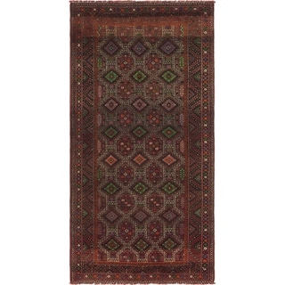 Hand Knotted Shiraz Semi Antique Wool Runner Rug - 4' 9 x 9' 8