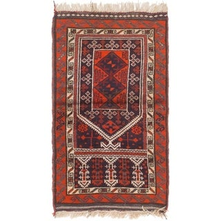 Hand Knotted Shiraz Semi Antique Wool Area Rug - 2' 5 x 4' 2