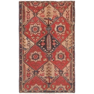 Hand Knotted Shiraz Antique Wool Area Rug - 4' 2 x 6' 8