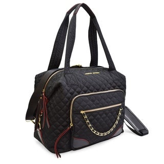 Adrienne Vittadini Medium Quilted Duffle With Chain Strap Design