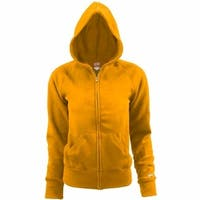 Soffe Youth Rugby Fleece Zip Hoodie Gold Size