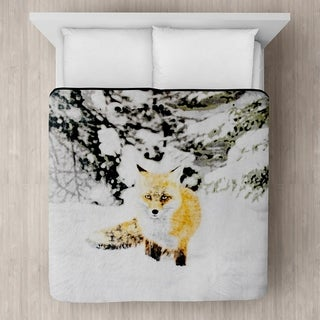 Snow Fox Micro Mink Blanket