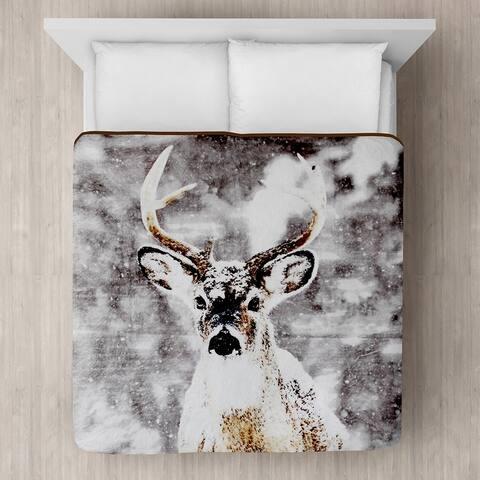 Snow Deer Micro Mink Blanket