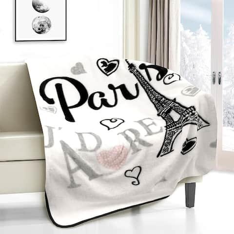 Paris, J'adore Novelty Throw