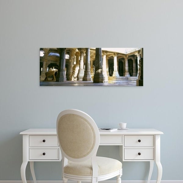 Easy Art Prints Panoramic Images's 'Interiors, Jain Temple, Ranakpur, Pali District, Rajasthan, India' Premium Canvas Art