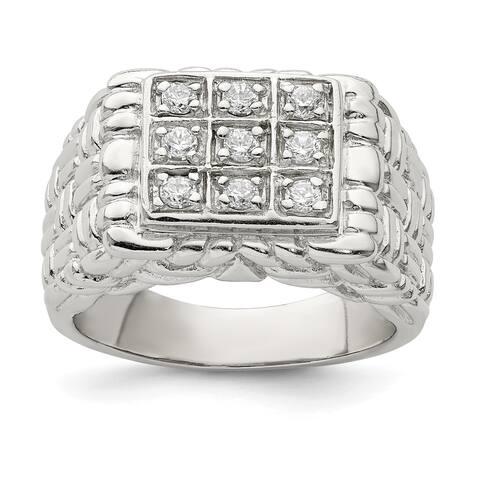 Sterling Silver Men's CZ Ring by Versil