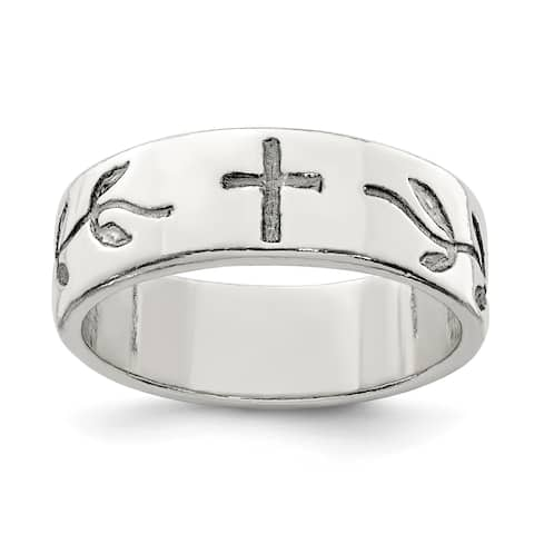 Versil Sterling Silver Cross Design Ring