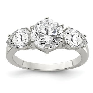 Versil Sterling Silver CZ Ring