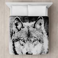 Wolf Micro Mink Blanket