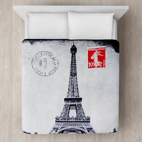Eiffel Tower Micro Mink Blanket