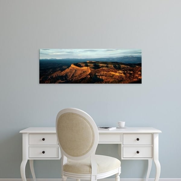 Easy Art Prints Panoramic Images's 'Rock Formations, Park Point Overlook, Mesa Verde National Park, Colorado' Premium Canvas Art