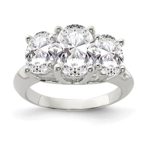 Sterling Silver CZ Ring by Versil