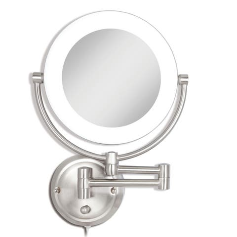 Zadro Dual Sided, Lighted Fluorescent Wall-Mount Mirror 1X/10X SLWR410