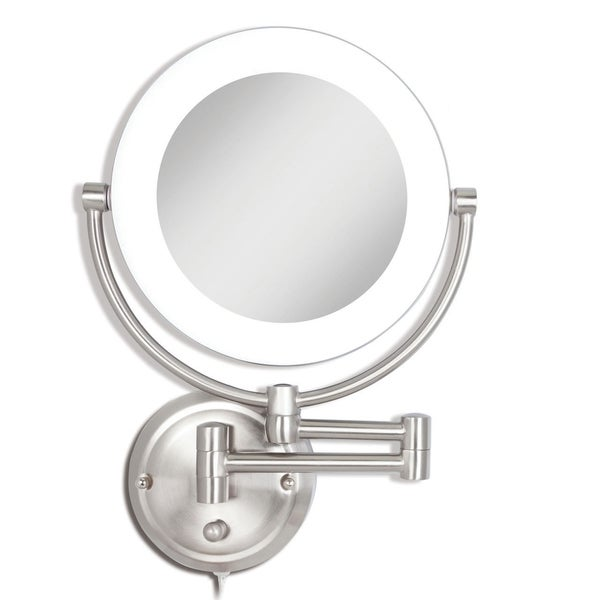 Shop Zadro Dual Sided Lighted Fluorescent Wall Mount Mirror 1x10x