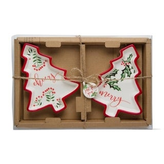 TAG Holly Berry Tree Dish Set Of 2