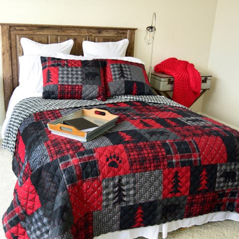 Your Lifestyle by Donna Sharp Red Forest Quilt Set