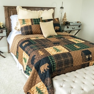 Link to Your Lifestyle by Donna Sharp Brown Bear Cabin Bedding Set Similar Items in Quilts & Coverlets