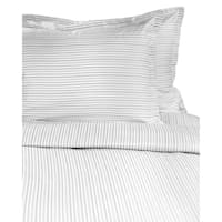 Printed Design Cotton Collection 400 Thread Count Grey Shirt Stripe Duvet Set